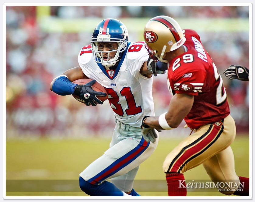 eight catches for 136 yards and 3 touchdowns - Amani Toomer