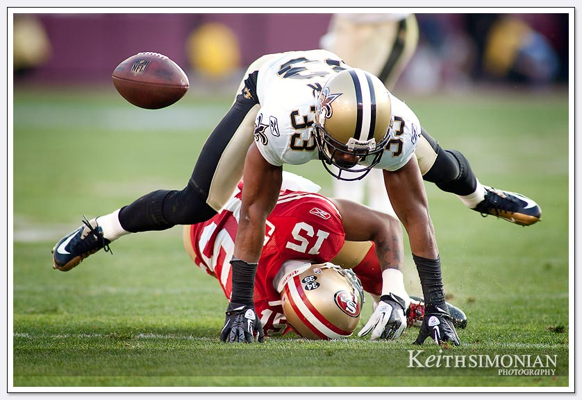 Saints and 49ers play leap frog.