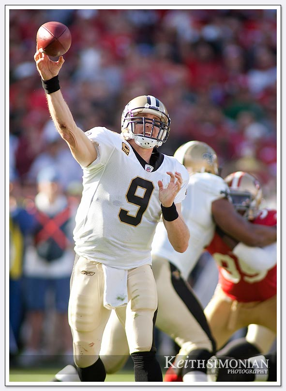 Saint quarterback #15 Drew Brees