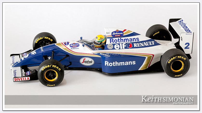 Scale model of 1994 Williams Renault driver Ayrton Senna picture