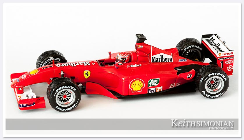 2001 King of the rain Michael Schumacher 1/18 scale model image