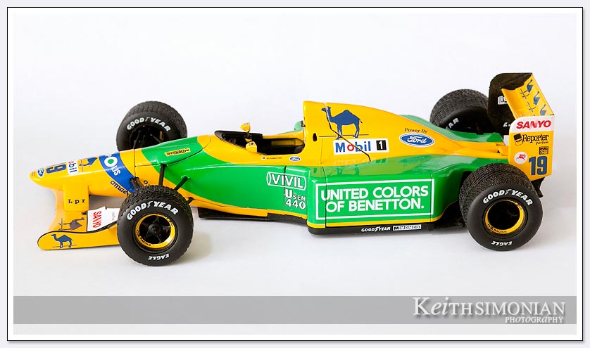 Photo of #19 model Benetton Ford driven by Michael Schumacher at Spa