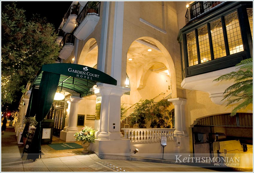 ... Garden Court Hotel In Palo Alto, California Will Forever Remind You Of  Your Wedding Day. Lights And Stairways At Night ...