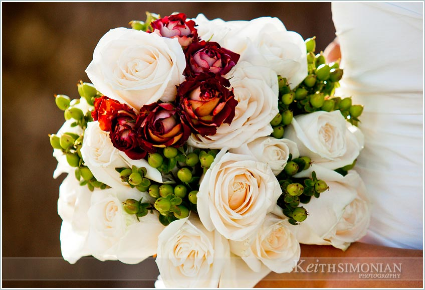 Bride's wedding day bouquet