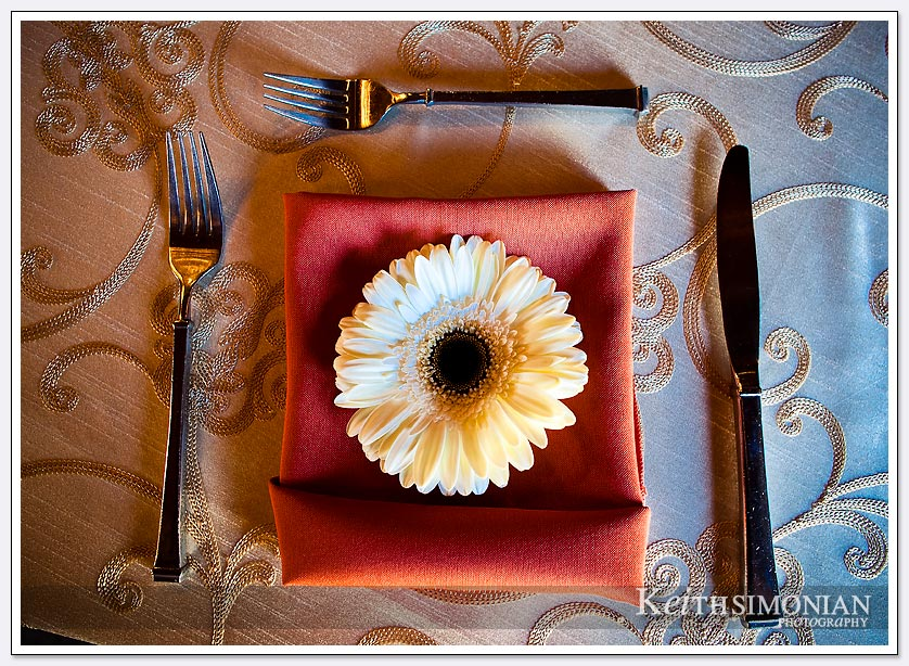 Mountain winery - table setting