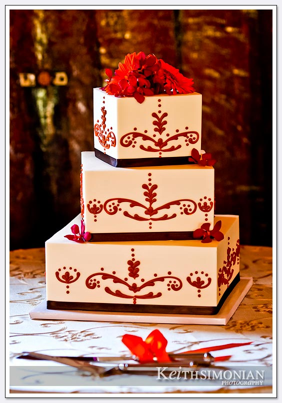 Mountain Winery wedding cake photo
