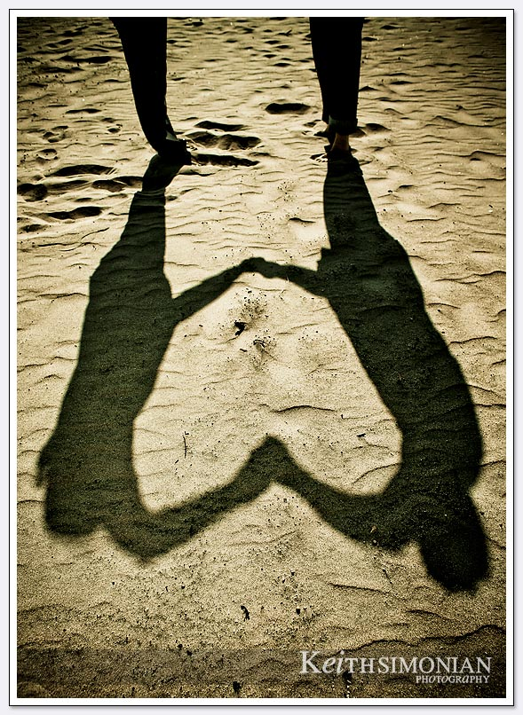 heart shaped shawdow
