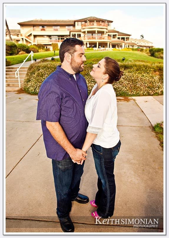 Seascape resort hotel engagement photo