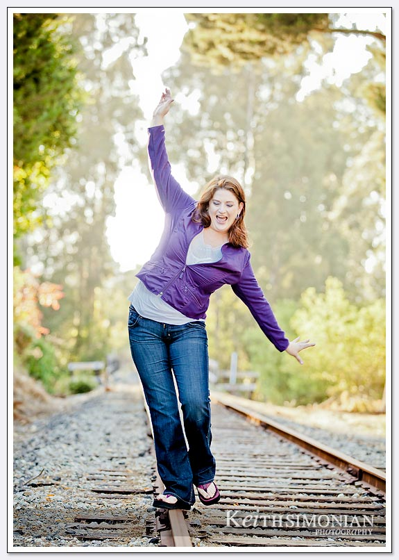 walking on the railroad track