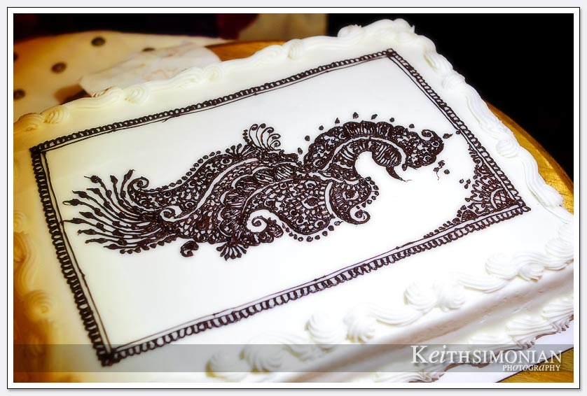 Wedding cake with Mehndi drawings