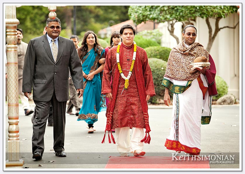 Groom arrives at South Asian Wedding ceremony in Fremont