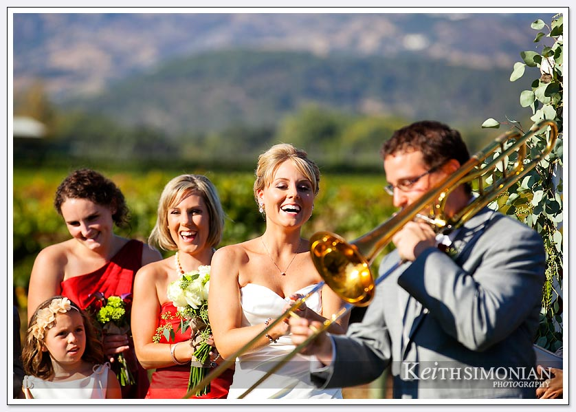 Few weddings include a trombone player during the ceremony