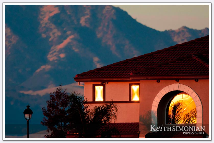 The use of a long lens gives the impression Mt Diablo is right behind this home instead of the 10 miles away it actually is