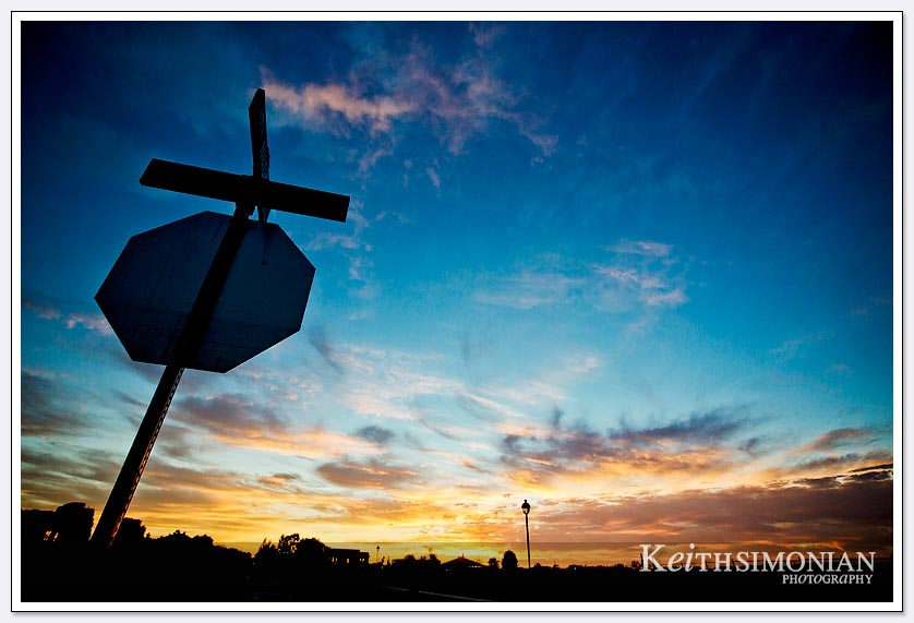 The use of a silhouette and wonderful colors make this a special Brentwood sunrise photo