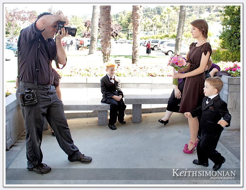 Mormon temple wedding photographer at work