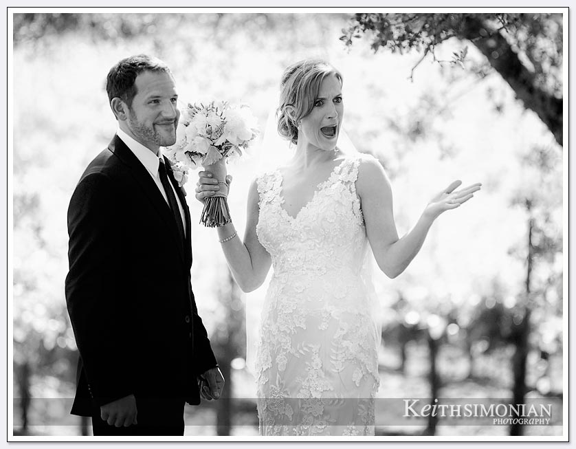 Napa Valley wedding with bride and groom at BR Cohn winery and Olive Oil Company