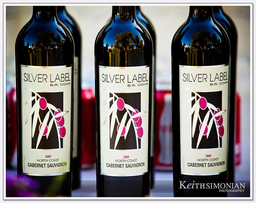 Napa Valley wedding guests of course enjoy wine from the region - BR Cohn Silver label North Coast Cabernet Sauvignon