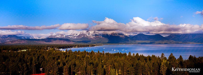 View of Lake Tahoe from Harrah's hotel and casino in Stateline, Nevada