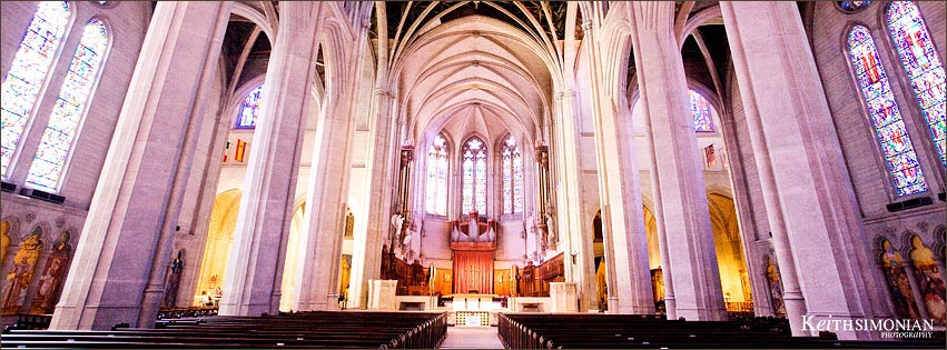Facebook Timeline Cover photo of aisle and interior Grace Cathedral church