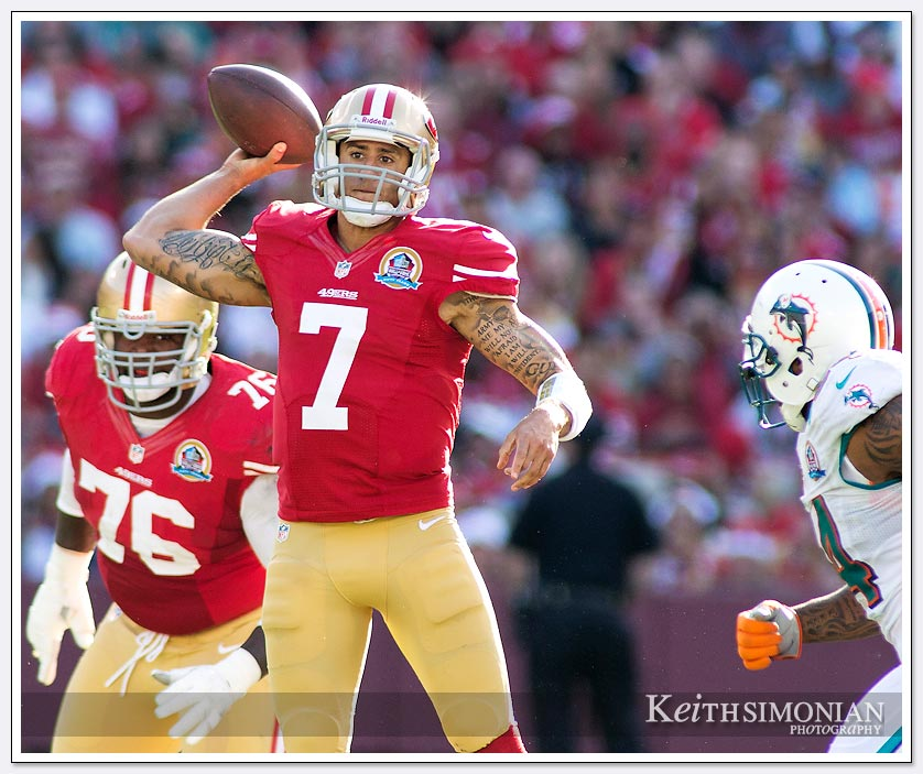 49er quarterback Colin Kaepernick will start in his first NFL playoff game this Saturday against the Green Bay Packers