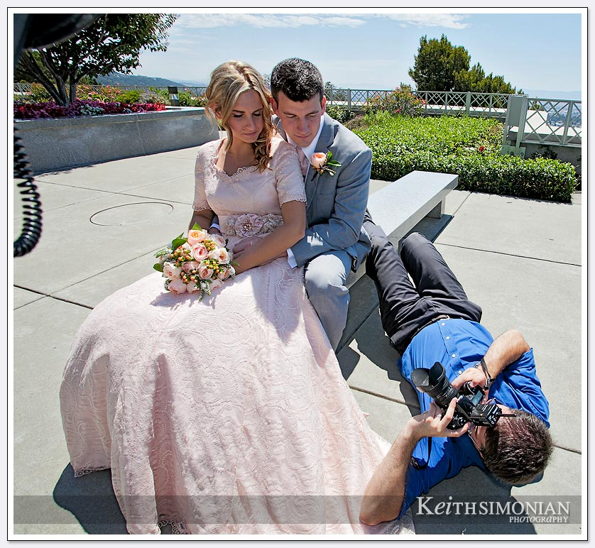 San Jose wedding Photographer Scott Mosher works hard to get all the angles.