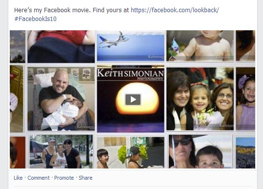 Celebrating 10 years Facebook provides a Look Back Movie to its members