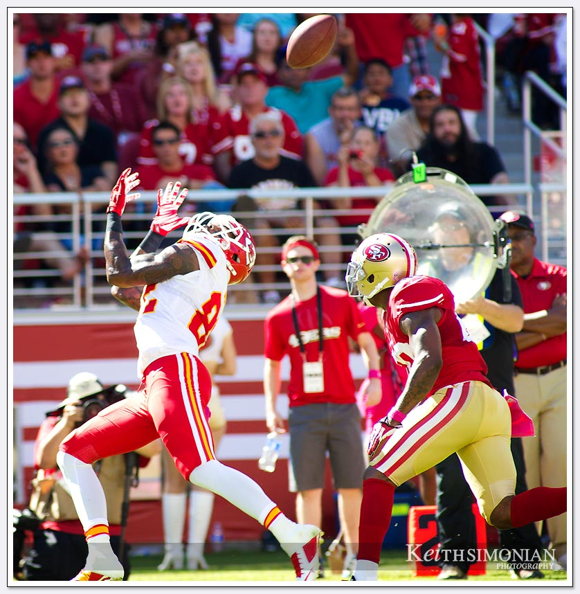 NFL football: Kansas City Chiefs vs San Francisco 49ers at Levi Stadium on October 5, 2014 in Santa Clara, California.
