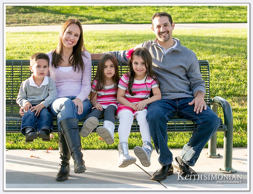 Fall family photos in the park