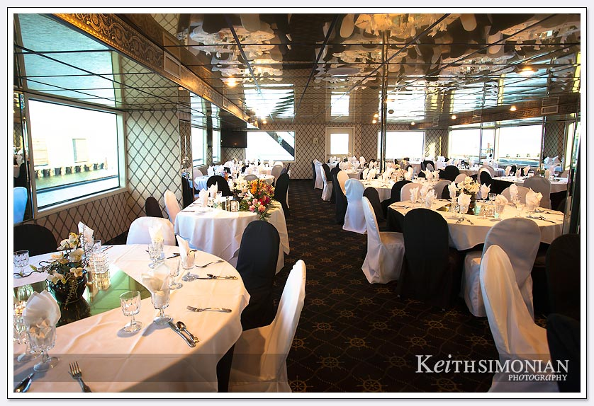 Wedding reception aboard the Cabernet Sauvignon Commodore Cruise ship