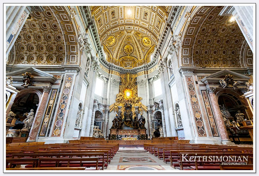 Church pews in Saint Peters Basilica