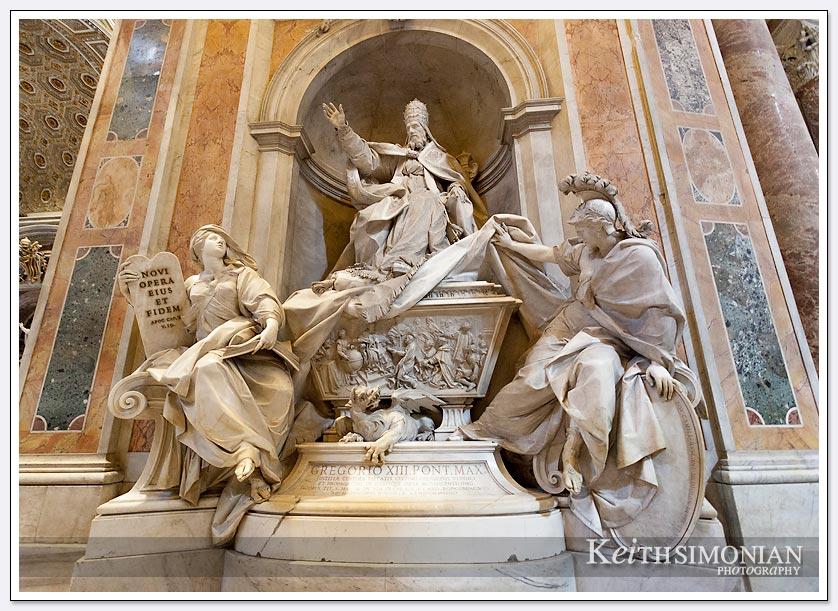 Stunning statue inside Saint Peter's Basilica