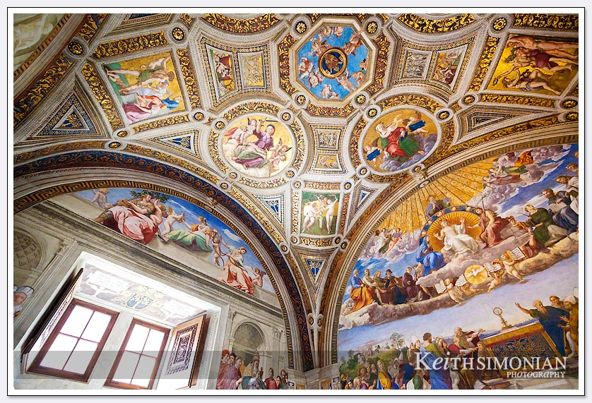 You must look at the walls and ceilings to view all the amazing paintings in the Vatican