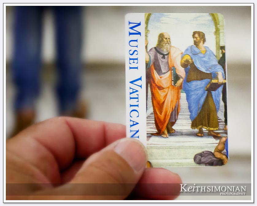 You have your ticket and now your are ready to view the Vatican museum