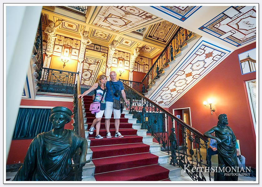 The grand staircase that greets you as you walk inside.
