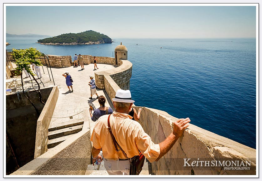 Walking the wall around Dubrovnik Croatia
