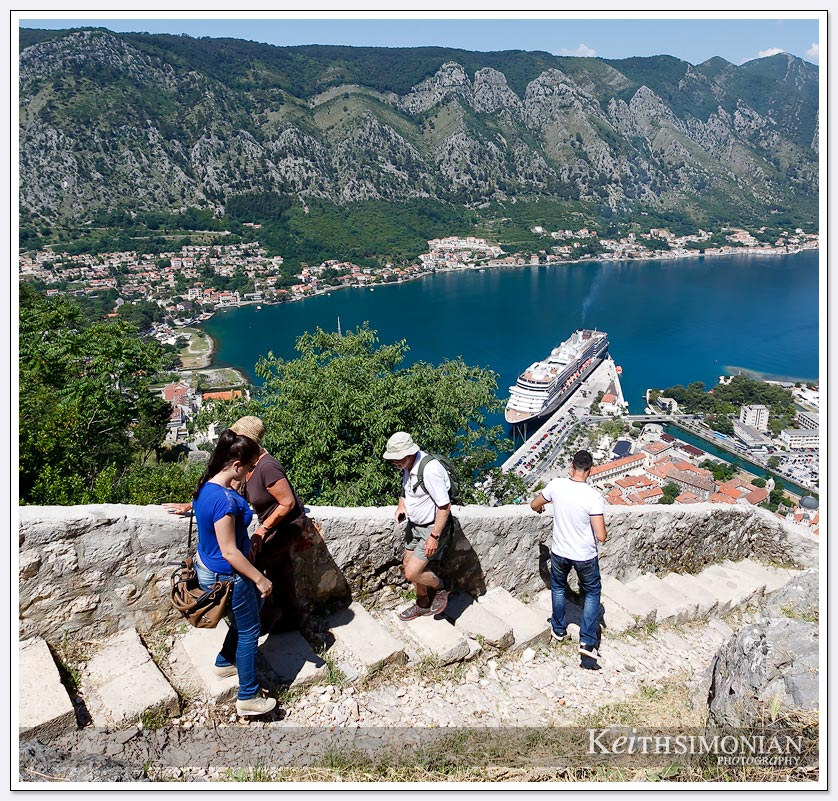 There are 1304 steps that take you to the top of the castle - Kotor, Montenegro