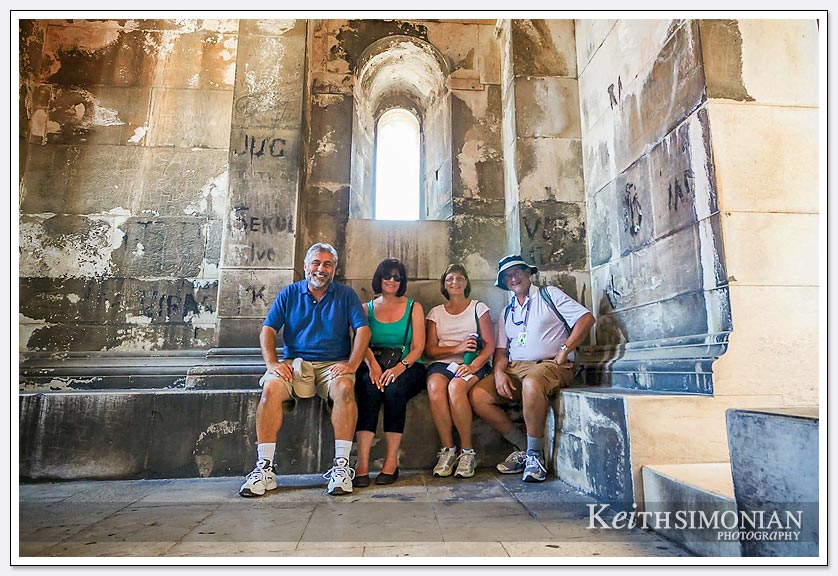 Group photo inside the bell tower - Split, Croatia