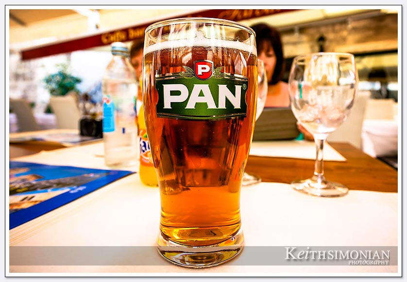 Pan beer, served almost cold in Split, Croatia