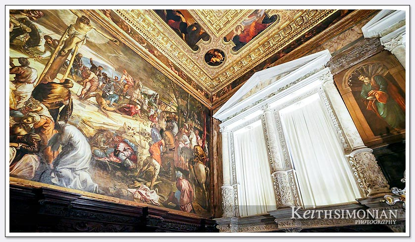 If you are going to paint, then do it big as in this Venice, Italy church.