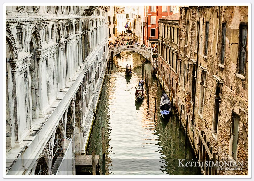 View of Venice Italy from the Bridge of Sighs - Doge's Palace