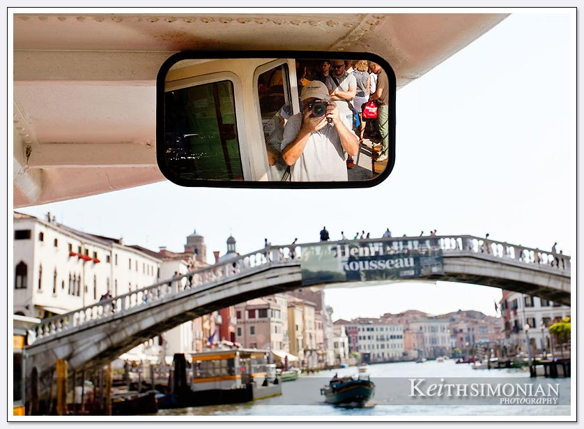 The selfie bridge in Venice Italy