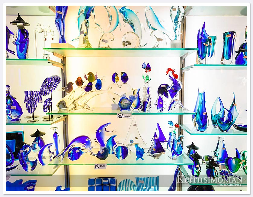 Glass art for sale in Venice Italy