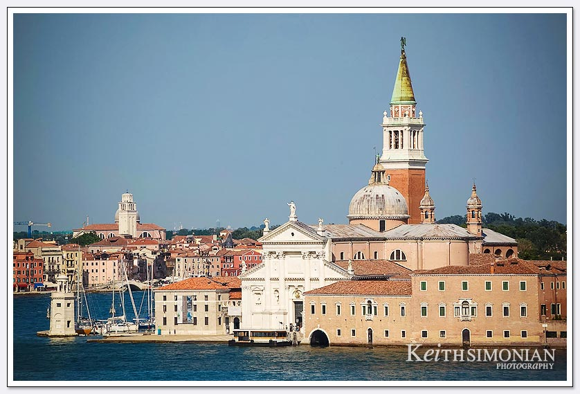 St Mark's Campanile towers over the Venice Italy skyline
