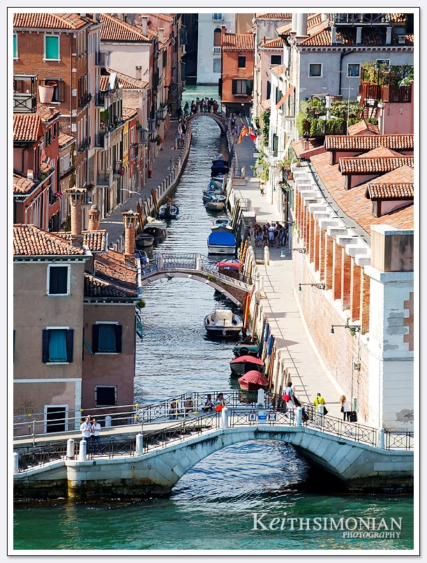 Plenty of bridges and canals in Venice italy