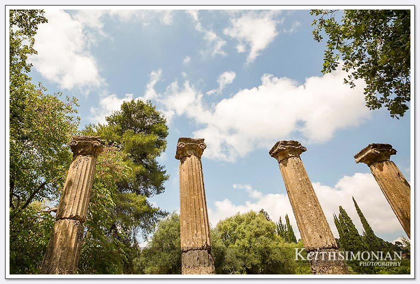 Columns in Olympia Greece
