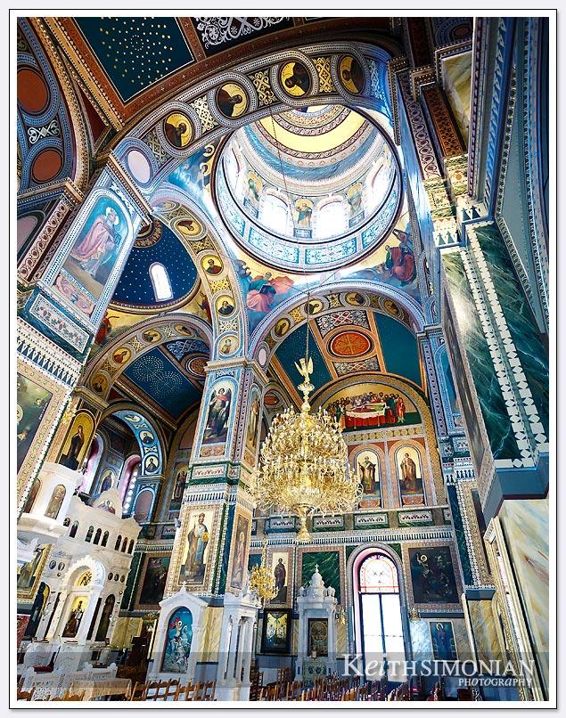 Interior of the Agios Nikolaos church in Piraeus, Greece