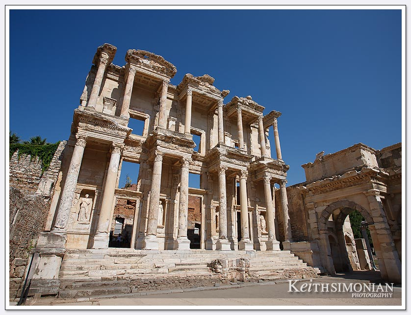 The ancient ruins at Ephesus in Turkey