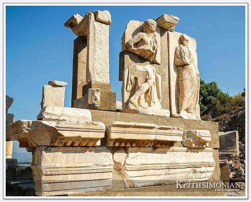 Restored ruins at Ephesus, Turkey