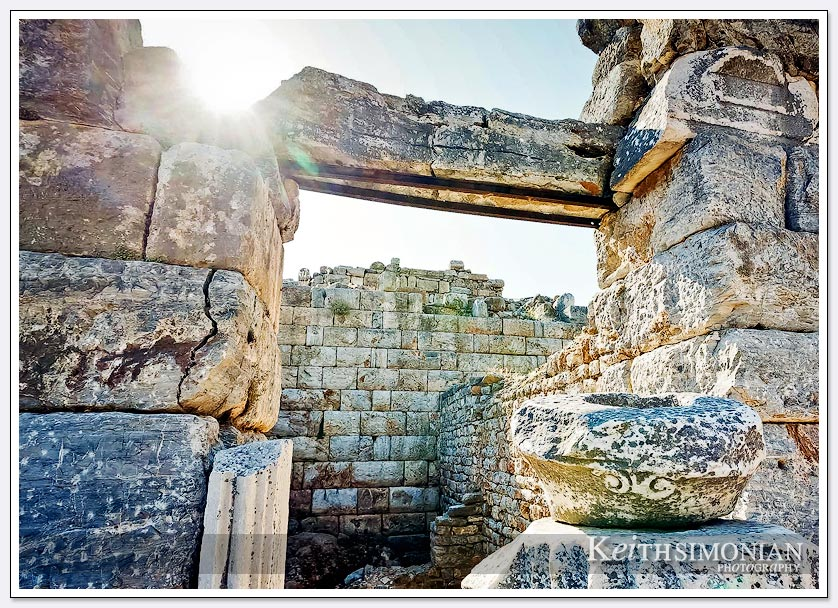 Sunlight over ruins at Ephesus, Turkey