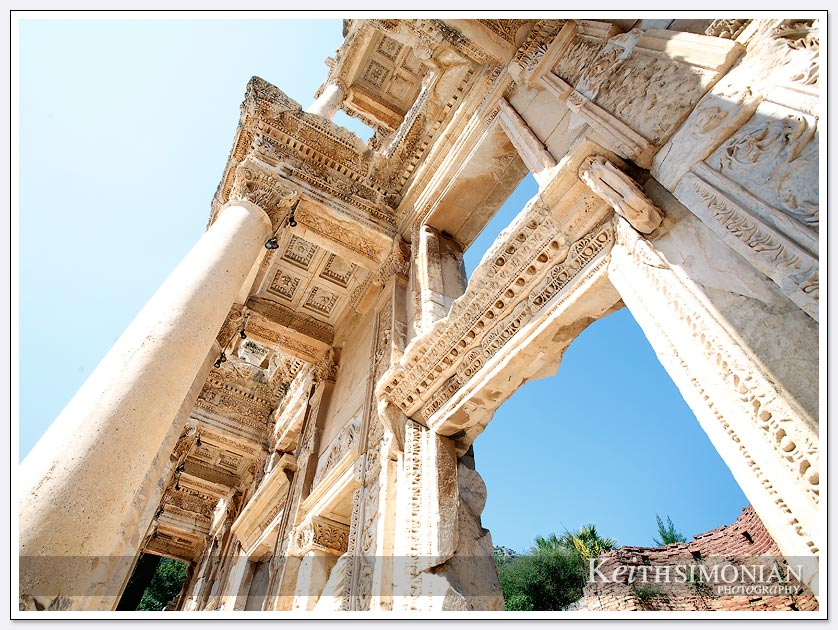 Three thousand year old ruins reconstructed at Ephesus in Turkey